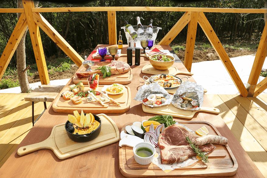 イタリアンスタイルの夕食